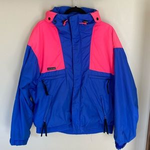 Retro Columbia 90's Vamoose Blue and Pink Jacket